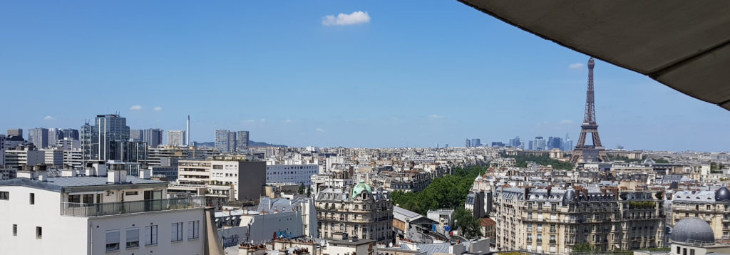 View of Paris from the windows of the lab